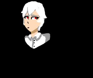 handsome albino man