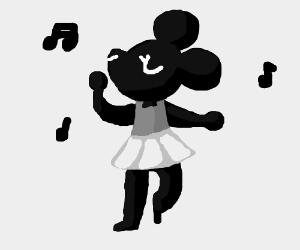 Cute Ballerina Mouse