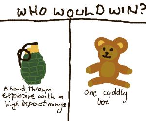 Teddy bear vs grenade