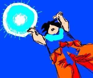 Goku prepares the Spirit Bomb