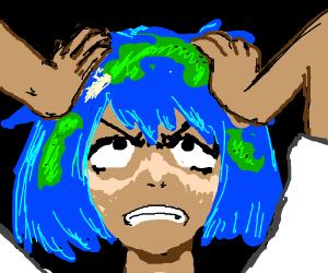 Earth-chan hates her inhabitants
