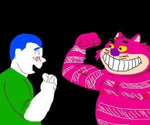 Pale White Man Praising the Cheshire Cat