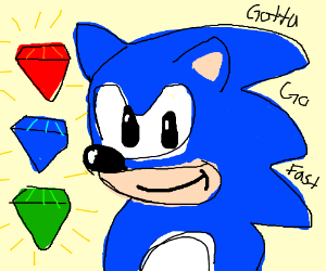 Sonic and chaos emeralds