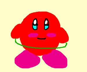 Kirby hula-hooping