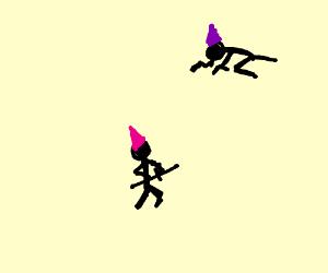 boring stickman ninja with pistol