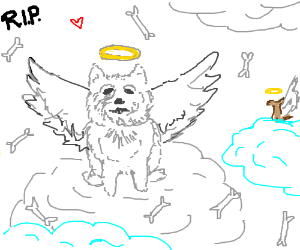 Edd and Gabe the Doggo in Heaven