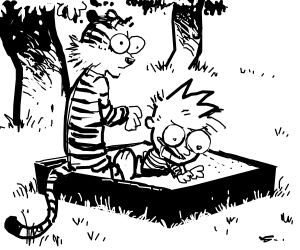 Image result for calvin and hobbes sandbox