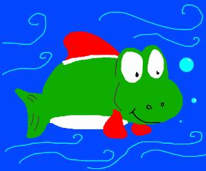Yoshi Fish--Rare Species--Habitat: MarioLand