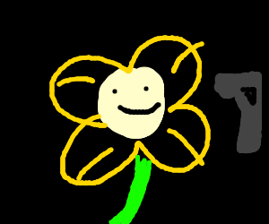 Flowey fighting an anime boy