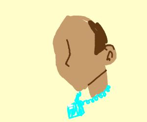 Jewelry faceless dude wearing a diamond necklace aloadofball Gallery