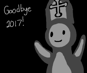 Ghost-Pope says goodbye to 2017