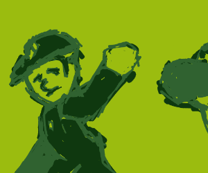 Mario says by to Yoshi