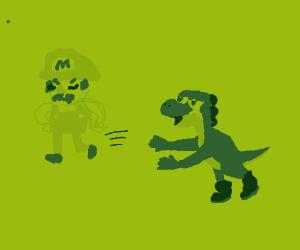 Mario abandons Yoshi
