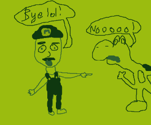 mario says bai lol to yoshi