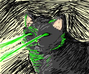 Cat w/ eye lasers