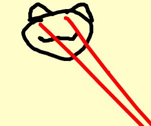 Cat with lazer eyes