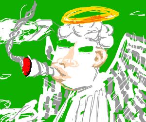 Angel smoking weed