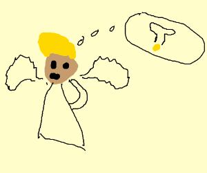 Angel thinking of idea