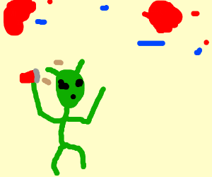 alien having fun