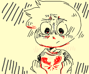 A heartbroken guy