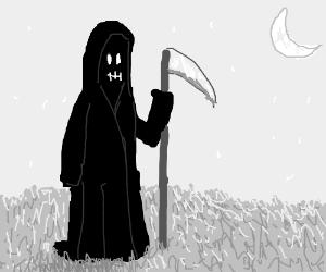 Grim Reaper in the Moonlight
