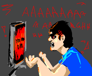 Angry Video Game Nerd Rages at Game