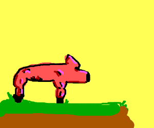 buff pig drawing by pyromaniac boy drawception