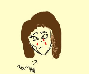woman crying blood drawing by manix drawception