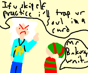 Angry albino hates skipping elf practice