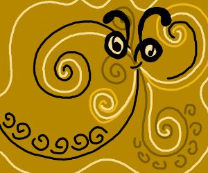Swirly gold creature