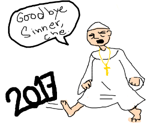 The pope says goodbye to 2017