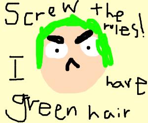 Screw The Rules I Have Green Hair Seto Kaiba Drawception