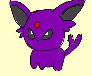 Purple angry cartoony squirrel