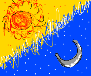Sun In The Night Time Aesthetic Drawing By Draw With Aryanna