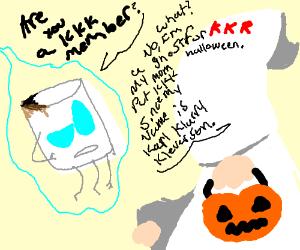 marshmellow ghost vs the KKK