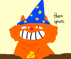 anthro cat wizard with cheese