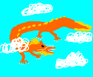 Chinese Dragon in the Clouds