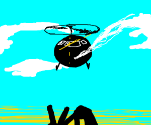 vape nation but its a helicopter thats vaping