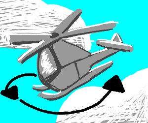 Spinning helicopter