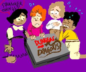 Dweebs scared of D&D b/c Stranger Things