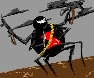 Deadly black widow spider