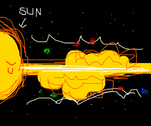The sun is a deadly LASER!