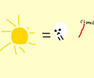 THE SUN IS A DEADLY LAZER