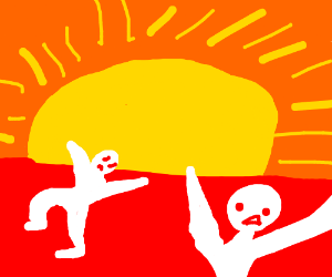 The sun is burning people alive!!!