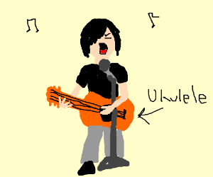 its called ukulele screamo and its art