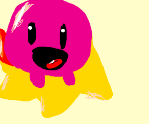 Kirby on his star