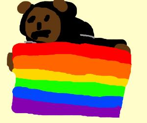 death bear promotes gay