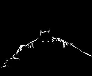 Batman lurking in the shadows