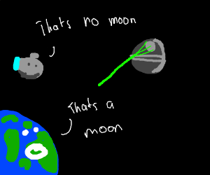 earth thinks the death star is the moon