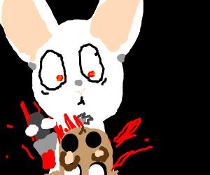 bunny killing chipmunk